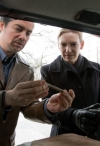 """FRINGE: Olivia (Anna Torv, R) joins forces with the mysterious Sam Weiss (guest star Kevin Corrigan, L) in a desperate race against time in the FRINGE episode """"The Last Sam Weiss"""" airing Friday, April 29 (9:00-10:00 PM ET/PT) on FOX. ©2011 Fox Broadcasting Co. CR: Liane Hentscher/FOX"""