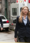 """FRINGE: Lincoln (Seth Gabel, L) and Olivia (Anna Torv, R) investigate a crime scene in the FRINGE Season Four premiere episode """"Neither Here Nor There"""" airing Friday, Sept. 23 (9:00-10:00 PM ET/PT) on FOX. ©2011 Fox Broadcasting Co. CR: Liane Hentscher/FOX"""