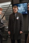 """FRINGE: Lincoln (Seth Gabel, C) and Walter (John Noble, R) ask Nina (Blair Brown, L) about the Cortexiphan supplies in the all-new """"A Better Human Being"""" episode of FRINGE airing Friday, Feb. 17 (9:00-10:00 PM ET/PT) on FOX. ©2012 Fox Broadcasting Co. CR: Liane Hentscher/FOX"""