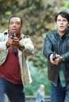 """GRIMM -- """"Lonelyhearts"""" Episode 105 -- Pictured: (l-r) Russell Hornsby as Hank Griffin, David Giuntoli as Nick Burkhardt -- Photo by: Scott Green/NBC"""