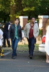 """GRIMM -- """"Lonelyhearts"""" Episode 105 -- Pictured: (l-r) David Giuntoli as Nick Burkhardt, Russell Hornsby as Hank Griffin -- Photo by: Scott Green/NBC"""